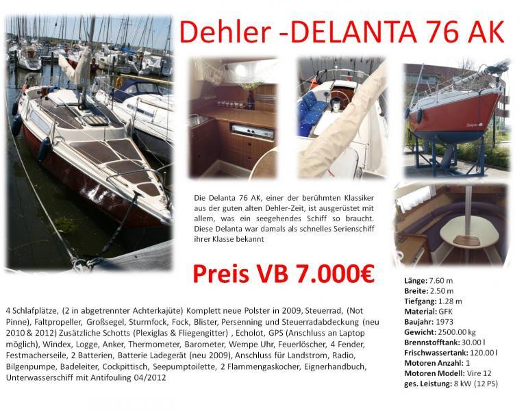 Boat For Sale Sailboat Delanta 76 Sleipnir Portmaps Com